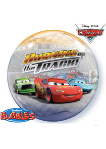 Disney Cars Burning Up The Track! 22in 3D Effect Bubble Balloon