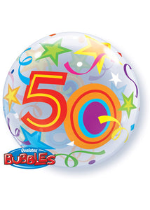 Number 50 - Brilliant Star 22in Bubble Balloon