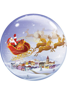 A Visit From St. Nick 22in Bubble Balloon