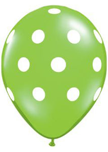 Polka Dot Assorted Colours 16in Latex Balloons 50pk