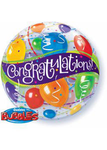 Congratulations 22in Bubble Balloon