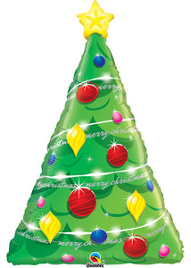Merry Christmas Oh Christmas Tree SuperShape 39in Foil Balloon