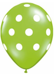 Polka Dot - Assorted Tropical Colours 5in Latex Balloons 100pk