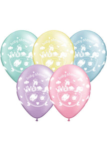 Baby Shower Neutral - Adorable Ark Assorted Pastel Colours 11in Latex Balloons 100pk