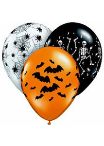 Spooky Design Assortment 11in Latex Balloon 50pk