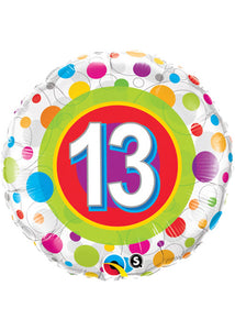 Number 11 Colourful Dots 18in Foil Balloon