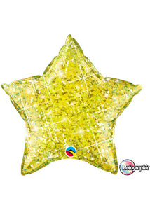 Star - Yellow Holographic 20in Foil Balloon