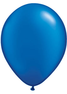 Blue - Sapphire Blue Pearlized 11in Latex Balloon 100pk