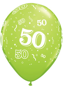 Number 50 - Around Trendy Colour Assortment 11in Latex Balloon 50pk