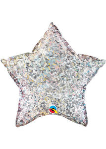 Star - Silver Holographic 36in Foil Balloon
