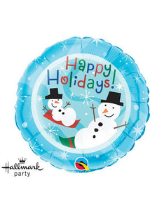 Happy Holiday Snowman 18in Foil Balloon