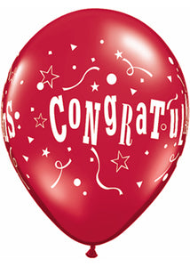 Congratulations Stars Special Assorted Colours 11in Latex Balloons 50pk