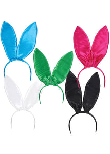 Bunny - Satin Bunny Ears Headband 12pk