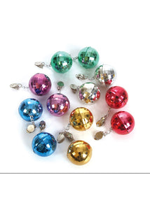 Earrings - Disco Ball Earrings - Assorted Colours - 1.5in