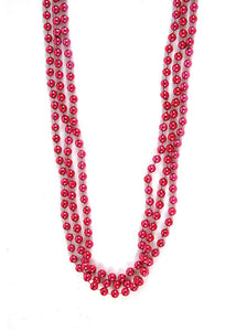 Pink - Small 6mm Bead 33in Bead Necklace - 720pk Box