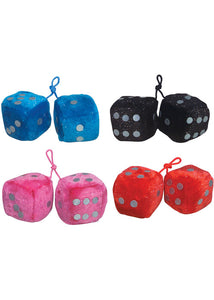 2 Piece Glitter Plush Dice