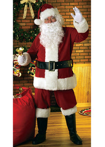 Santa Suit - Deluxe Velvet 8 Piece Santa Suit with Wig and Beard Set
