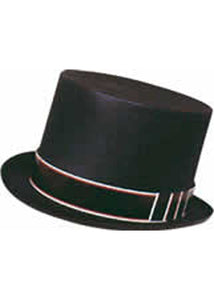 Black Flocked Top Hat
