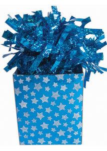 Blue Star Box Balloon Weight 3in x 6in