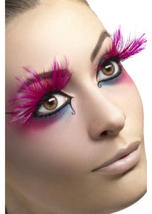 Eyelashes - Pink Feather