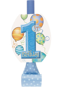 "First Birthday Balloons Blue Novelty - ""1st Birthday"" Blowouts 8pk"