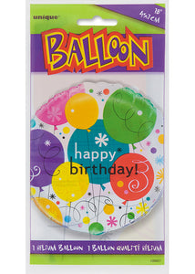 Breezy Happy Birthday Assorted Colours 18in Foil Balloon