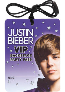 Justin Bieber Novelty - Vip Badge Necklace 4pk