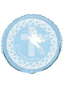 First Commumion - Blue Cross Communion 18in Foil Balloon