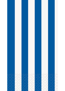 Royal Blue Stripes Napkin - Guest Towels 16pk