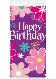 Birthday Blossom Tablecover - 54in x 84in