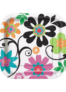 Floral - Flirty Flowers - Plate - 7in 10pk