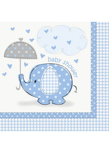 Umbrellaphants Blue Napkin - Luncheon Napkins 16pk