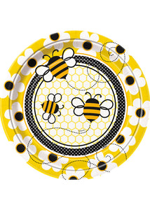Busy Bee Plate - 9in Paper Plates 8pk
