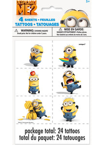 Despicable Me - Favour - Tattoo Sheets - 4pk