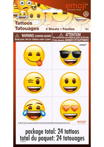 Emoji Tattoos - 4 Sheets