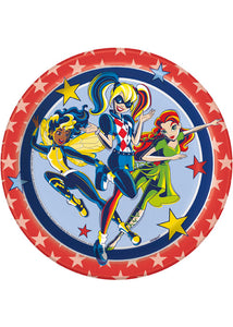 DC Super Hero Girls Plate - 7in Plates 8pk