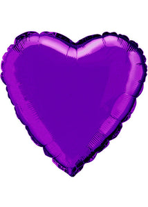 Heart - Purple - Deep Purple 18in Foil Balloon