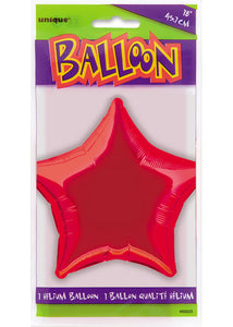 Star - Red - 20in Foil Balloon