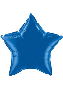 Star - Blue - Royal Blue 20in Foil Balloon