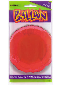 Circle - Red 18in Foil Balloon