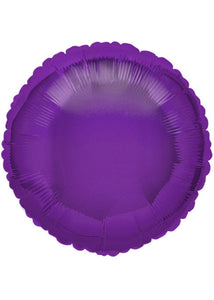 Circle - Purple - Deep Purple - 18in Foil Balloon