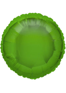 Circle - Green - Lime Green - 18in Foil Balloon