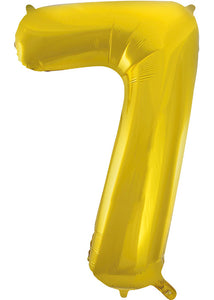 34in Gold (UN) Number 7 Foil Balloon