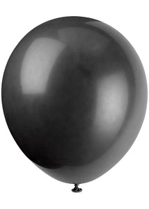 Black - Jet Black 12in Latex Balloons 10pk
