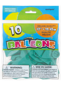 Green - Emerald Forest Green 12in Latex Balloons 10pk