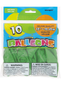 Green - Lime Forest Green 12in Latex Balloons 10pk