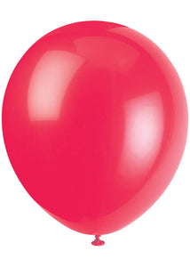 Red - Ruby Red 12in Latex Balloons 10pk