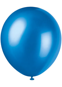 Blue - Sapphire Blue Pearlized 12in Latex Balloon 8pk