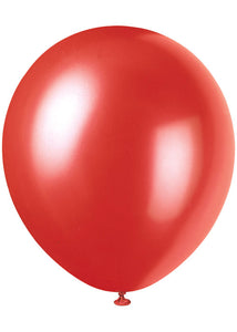 Red - Frosted Red Pearlized 12in Latex Balloon 8pk