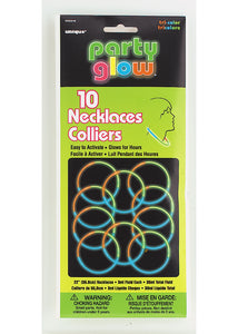 Necklace - 22in Glow Necklace - TriColour 10pk